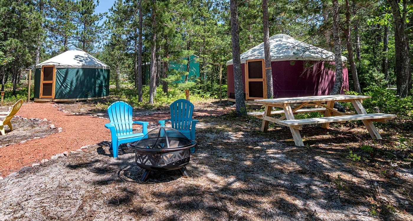 au-train-beach-campground-yurts