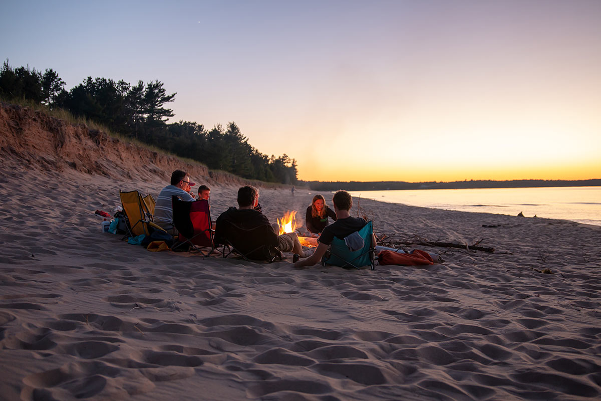 au-train-beach-campfire-on-beach